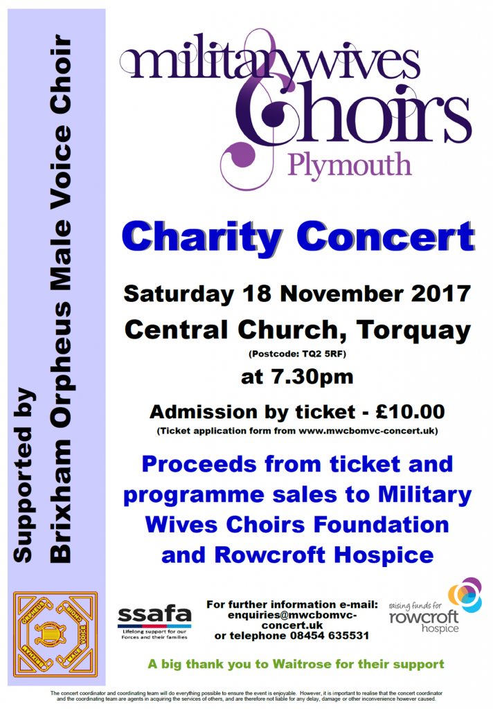 Military Wives Concert @ Central Church, Torquay