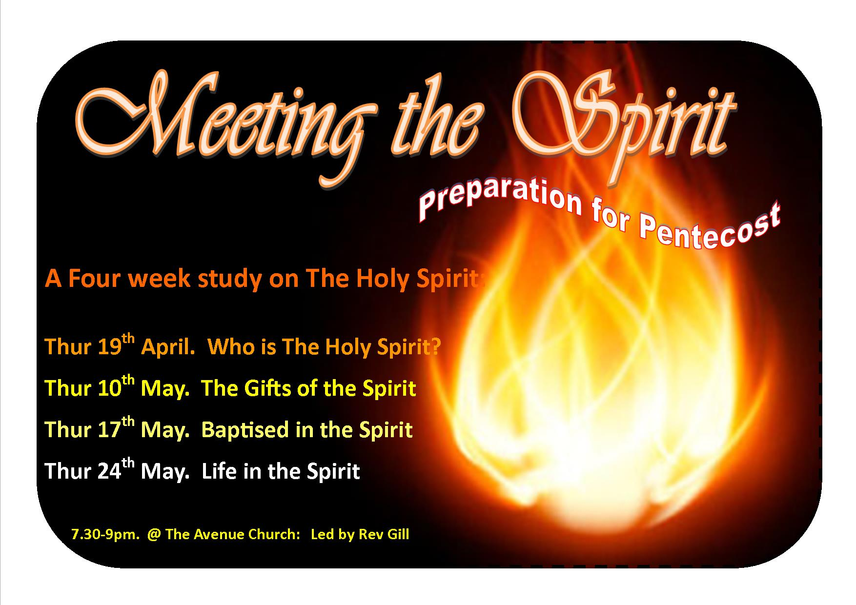 Meeting the Spirit - Life in the Spirit @ The Avenue Church, Newton Abbot