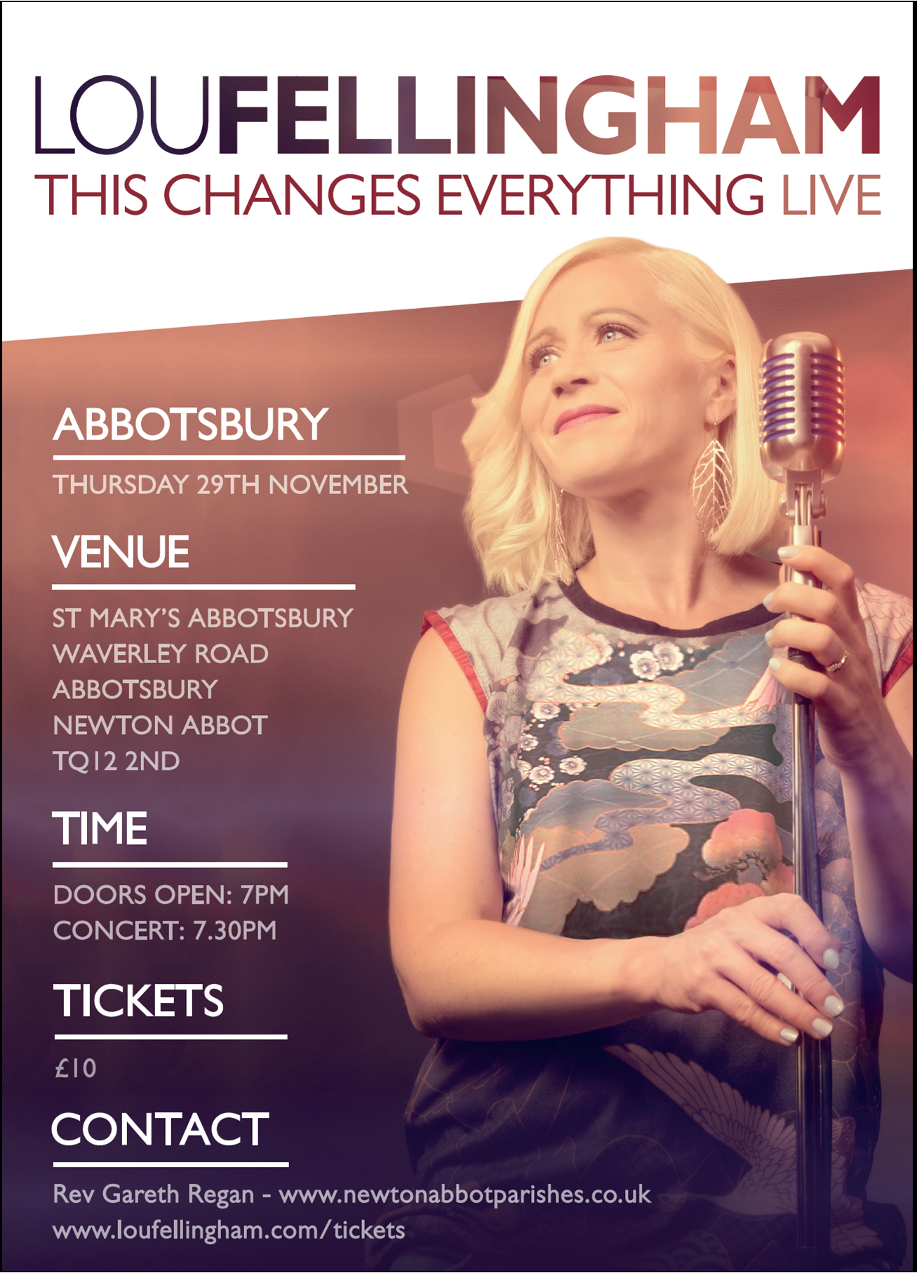 Lou Fellingham Live - This Changes Everything @ St. Mary's Church, Abbotsbury