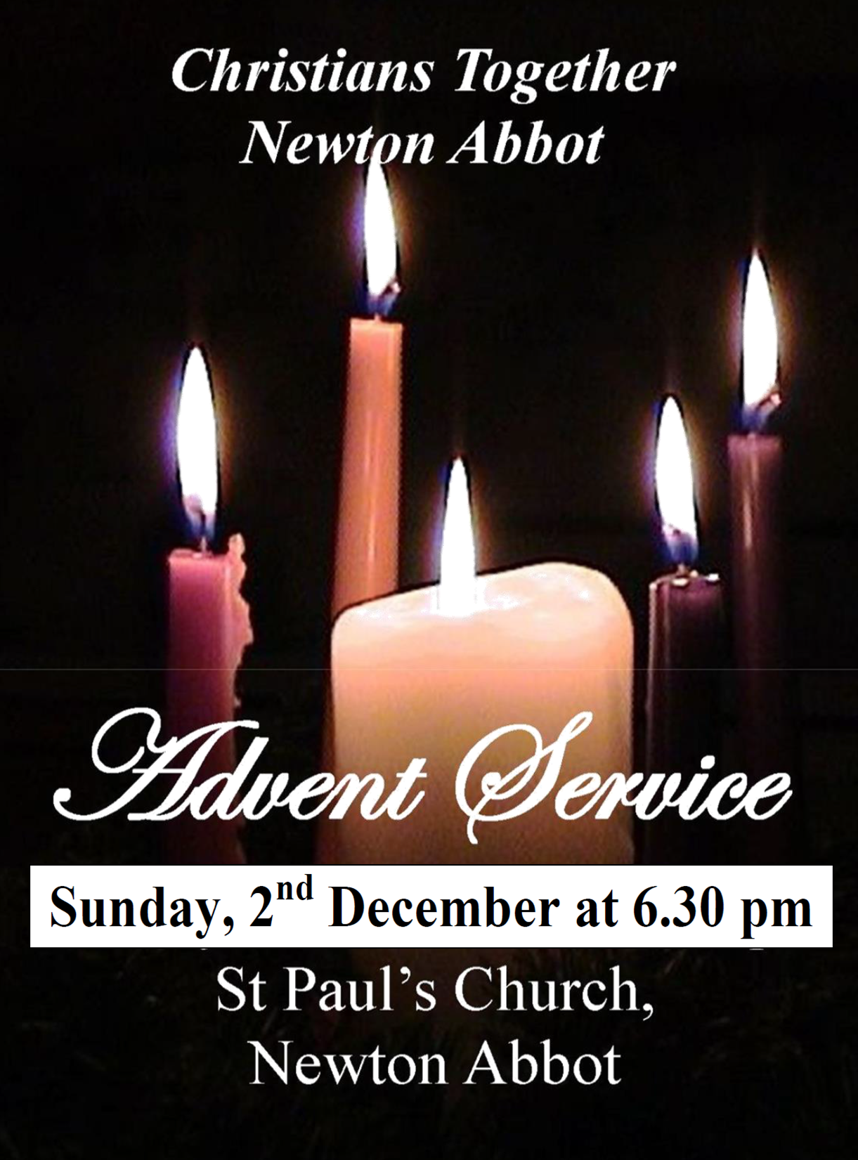 Christians Together Advent Service @ St. Paul's Church, Newton Abbot