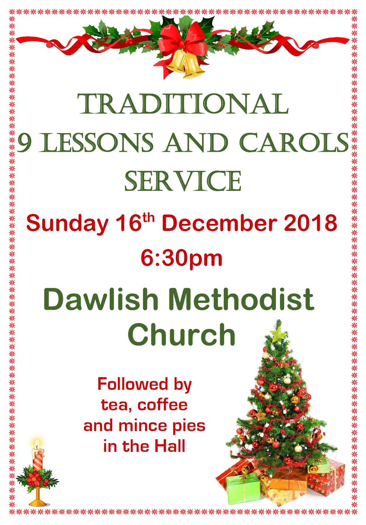 Dawlish 9 Lessons and Carols @ Dawlish Methodist Church