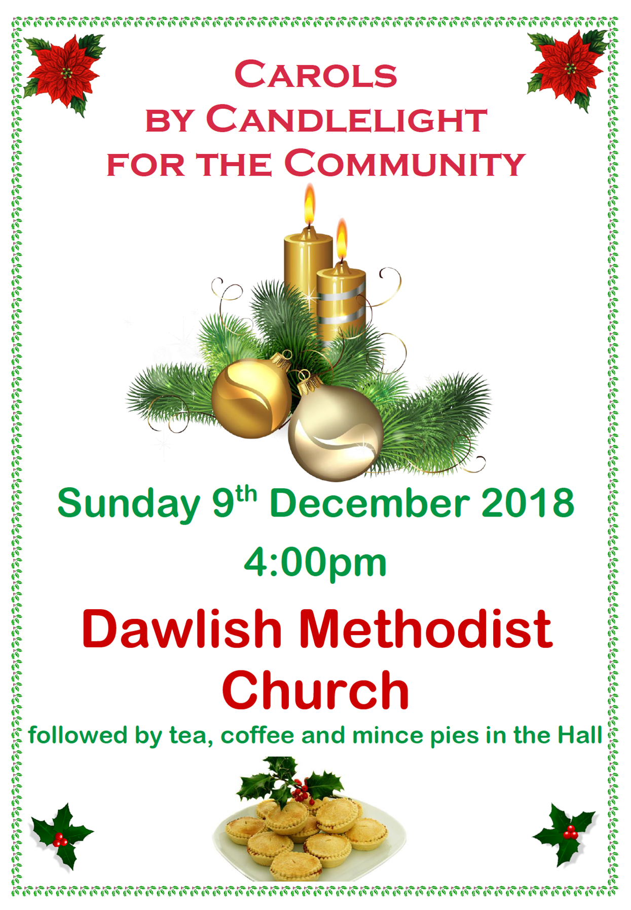 Dawlish Community Carols @ Dawlish Methodist Church