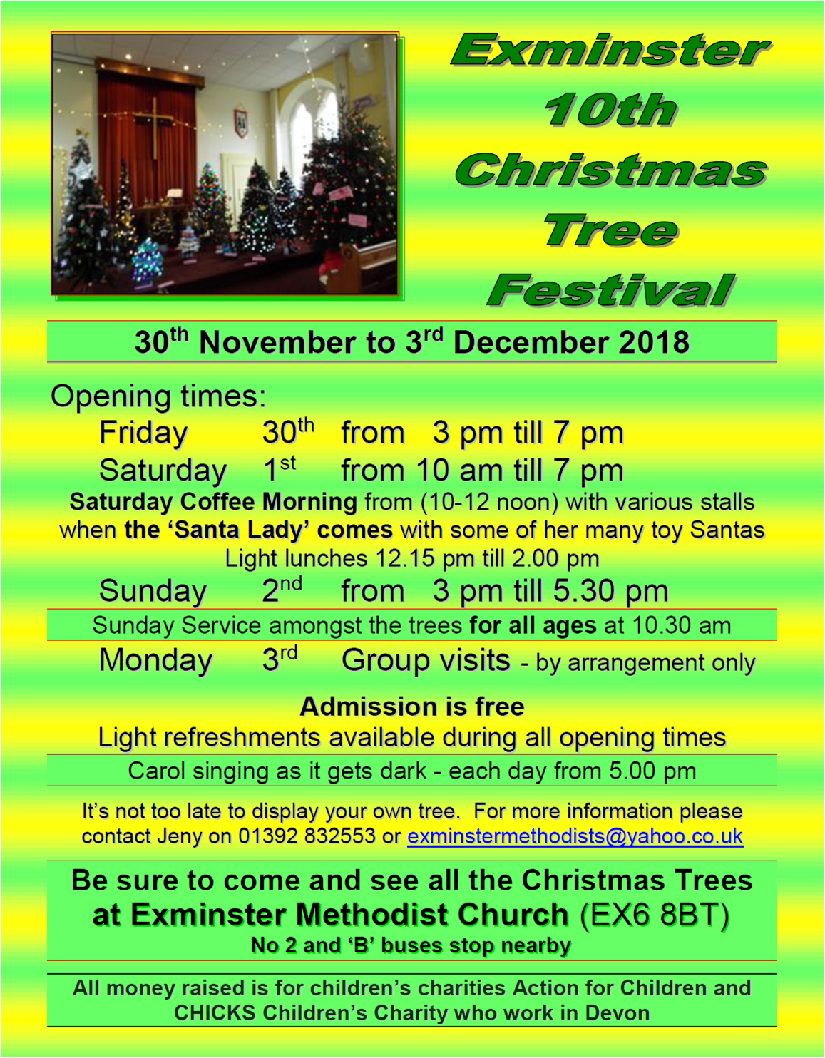 Exminster Christmas Tree Festival @ Exminster Methodist Church