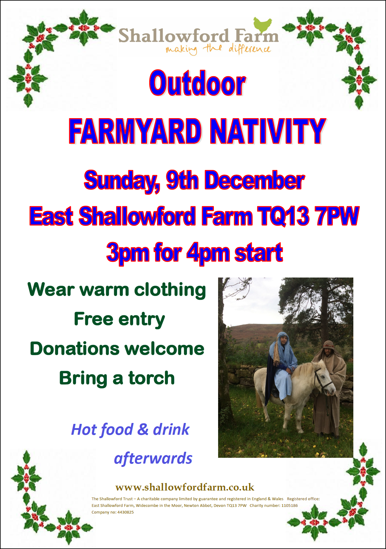 East Shallowford Farmyard Nativity @ East Shallowford Farm