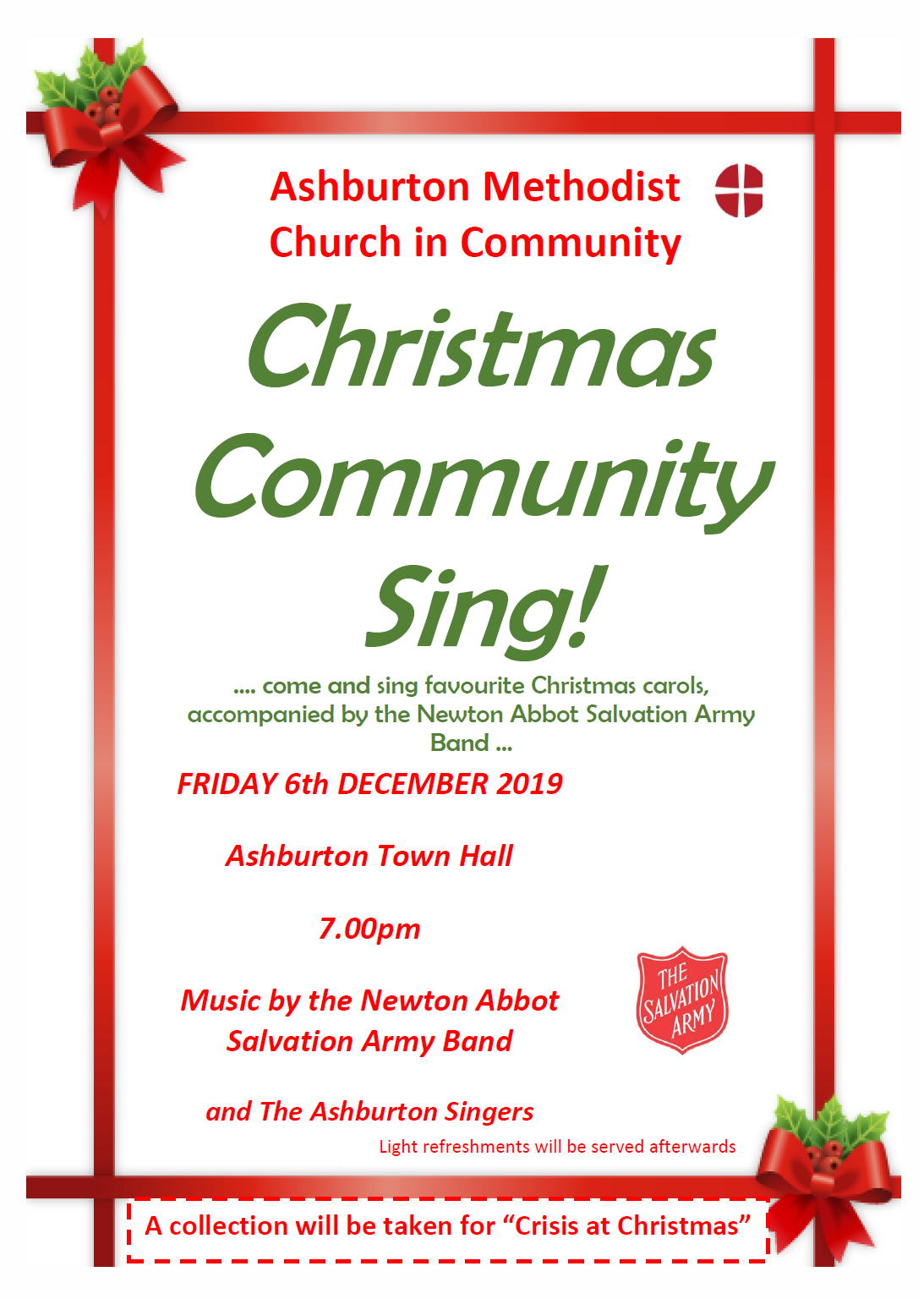 Ashburton Christmas Community Sing @ Ashburton Town Hall