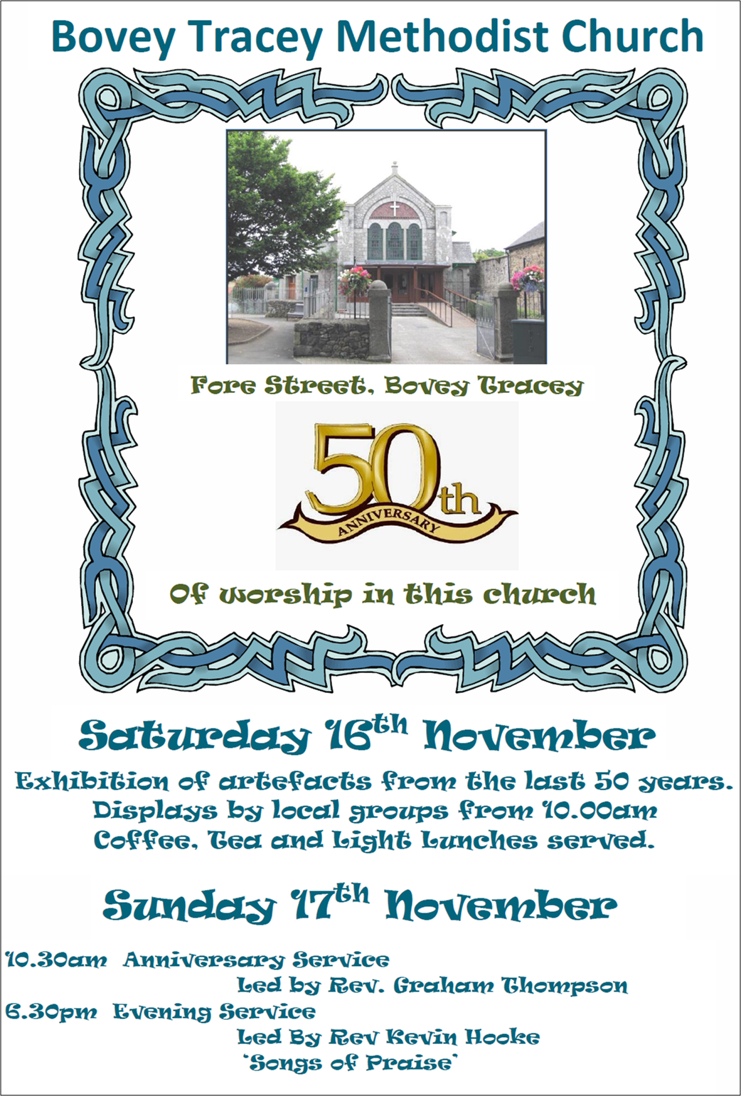 Bovey Tracey 50th Anniversary @ Bovey Tracey Methodist Church