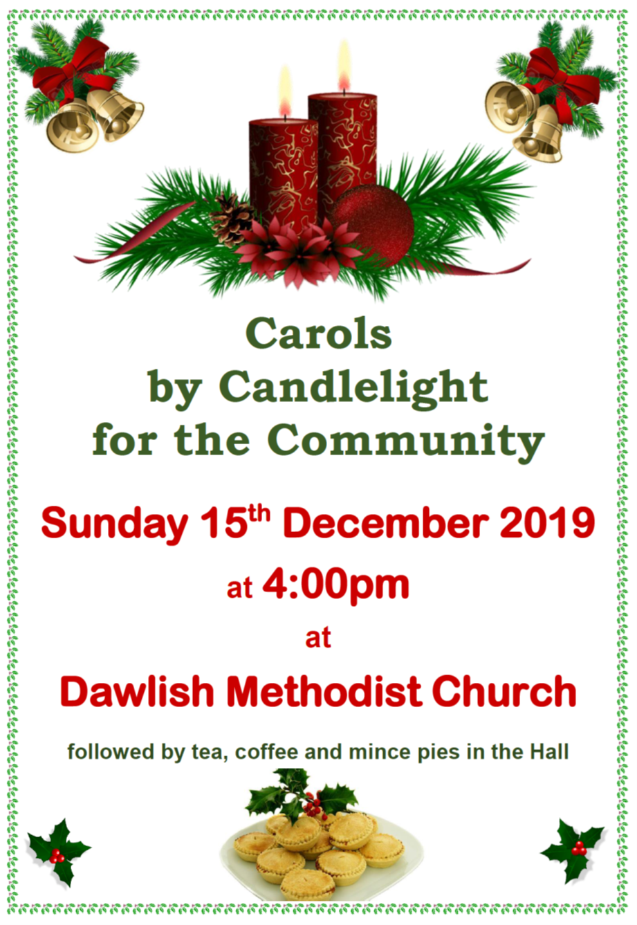 Dawlish MC Community Carols by Candlelight @ Dawlish Methodist Church