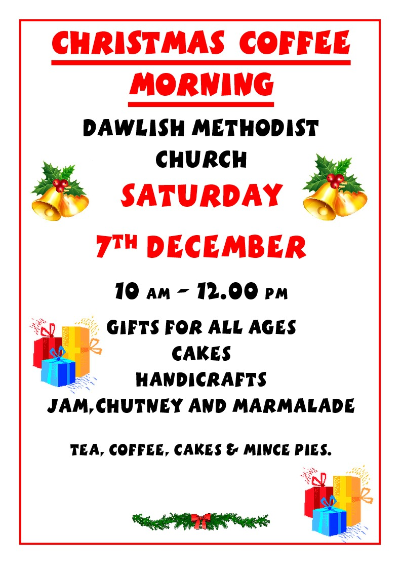 Dawlish MC Christmas Coffee Morning @ Dawlish Methodist Church
