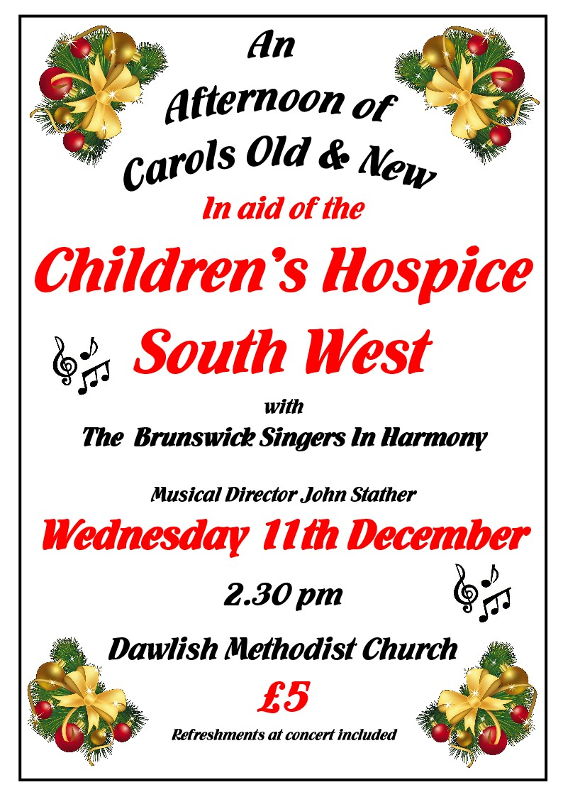 Dawlish MC Concert for Children's Hospice SW @ Dawlish Methodist Church