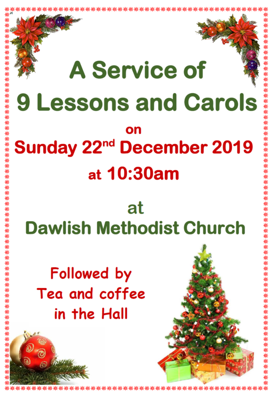 Dawlish MC Nine Lessons and Carols @ Dawlish Methodist Church
