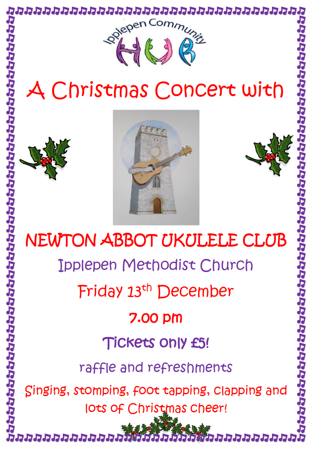 Ipplepen Christmas Ukulele Concert @ Ipplepen Methodist Church