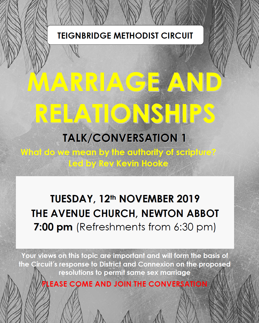 Marriage and Relationships 1 @ The Avenue Church, Newton Abot