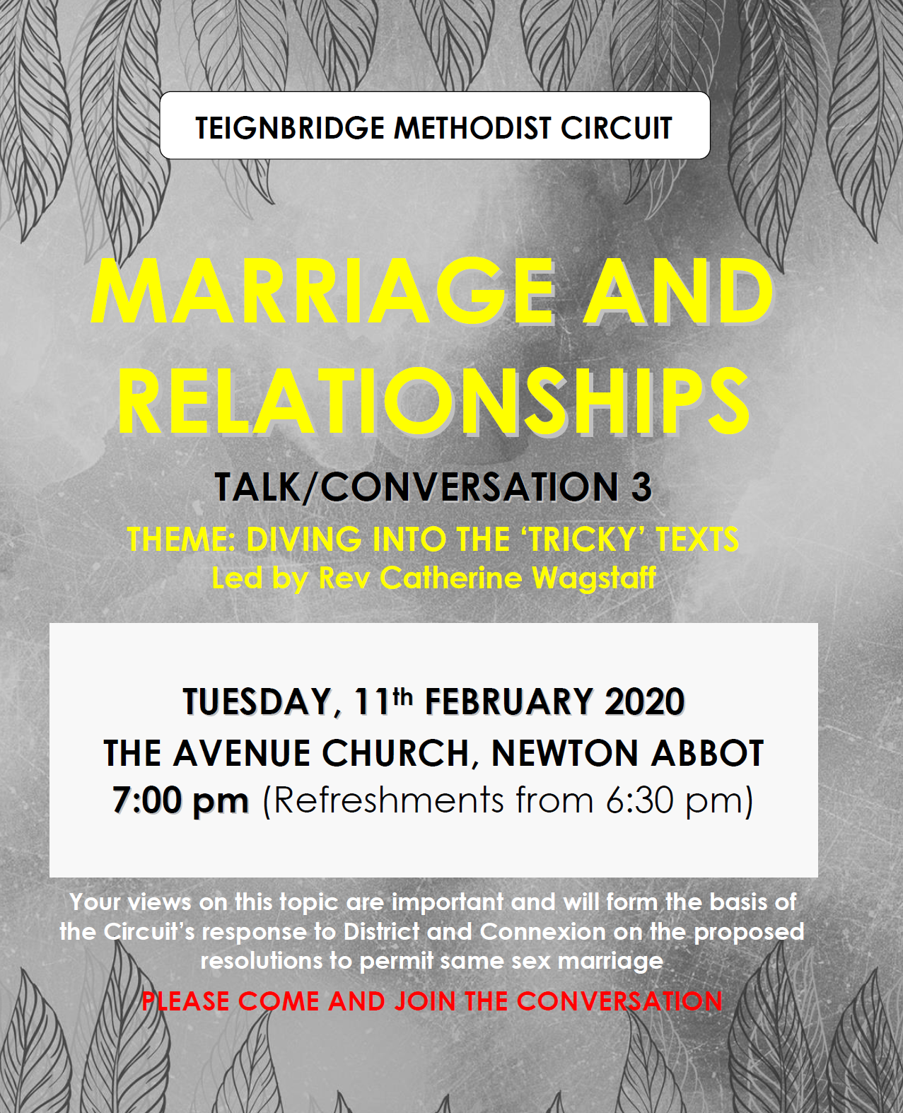 Marriage and Relationships 3 @ The Avenue Church, Newton Abbot