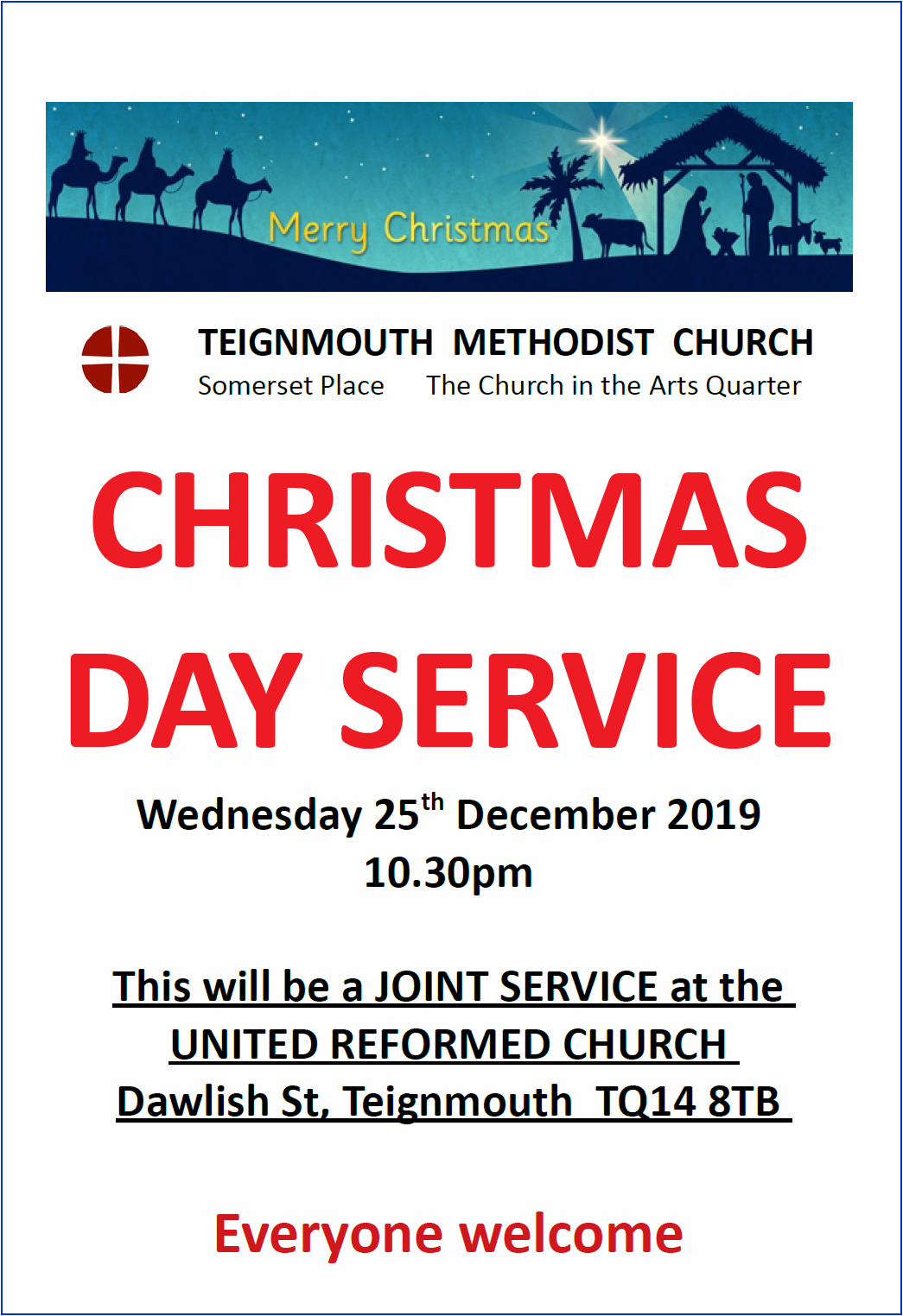Teignmouth MC = Christmas Day @ Teignmouth Methodist Church